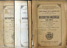 14 plaquettes distribution prix Lycée national de La Roche sur Yon 1906-1938