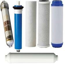 Replacement filters & 75 GPD membrane set  6 stage reverse osmosis Alkaline