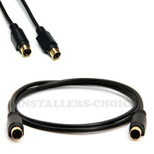 6 ft feet S-Video 4 Pin Male to Male Cable Cord Svideo Gold Plated For DVD HDTV