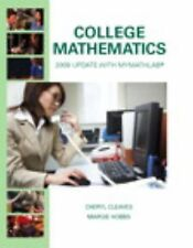 College Mathematics: 2009 Update, Hobbs, Margie, Cleaves, Cheryl, Good Book