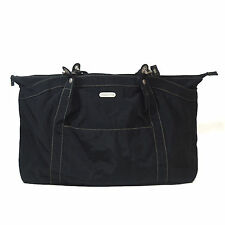 BAGGALLINI Black Hampton Bagg Crinkle Nylon Tote Shoulder Bag Organizer Handbag