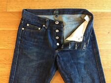 APC A.P.C. Mens New Cure H Slim Denim Blue Jeans Size 28 x 29 $185 Fades!