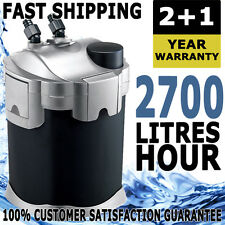 Aqua One Nautilus External Aquarium Fish Tank Turtle Pond Canister Filter 2700