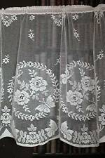 "Bella Scottish cotton lace valance cafe curtain shabbychic brise-bise 27"" dropCr"