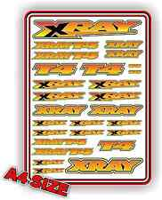 XRAY T4 STICKER DECAL SHEET 1/10 RC ELECTRIC CAR A4 TOURING DRIFT YELLOW BLEND