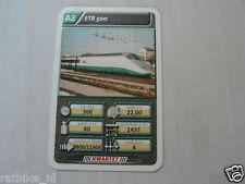 22 SUPER TRAIN A2 ETR 500 TREIN KWARTET KAART, QUARTETT CARD