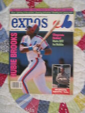 June 1989 Montreal Expos Baseball Magazine in French & English