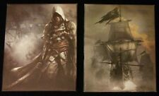 Assassins Creed 4 Black Flag Lona Impresiones X 2 de la edición de Pecho Negro