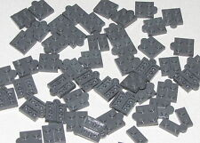 Lego Lot of 50 New Dark Bluish Gray Hinge Plates 1 x 4 Swivel Top Base Pieces
