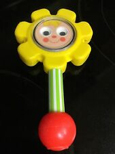 Vintage 1973 Fisher Price Flower Rattle Baby Toy #424