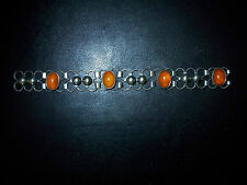 Art De-Co -Honigbernstein-Amber –Natur- Bernstein- Schmuck-925er- Silber Armband