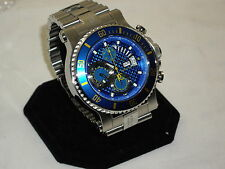"RENATO T-REX ONLY 50 MADE W/VALJOUX7750 SHOCK BLUE DIAL ""NEW"""