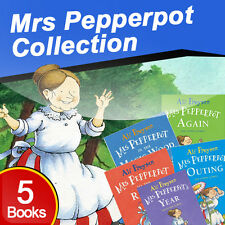 Alf Proysen Mrs Pepperpot Collection 5 Book Set Childrens Pack To The Rescue NEW