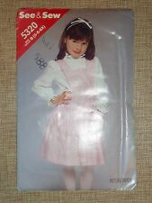 BUTTERICK...SEE & SEW PATTERN 5320 - GIRLS PINAFORE JUMPER - 5-6-6X - UNCUT