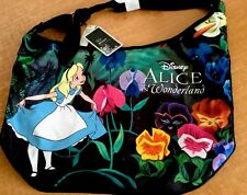 Disney Alice in Wonderland Hobo Shoulder Crossbody Bag Flowers Purse Loungefly