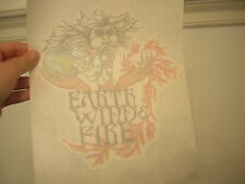 EARTH WIND &FIRE IRON ON VINTAGE 1970'S MUSIC BAND