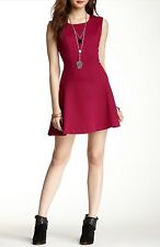 Free People Red Cha Cha Mini Skater Dress Small Retails $118.00 Sold Out On Site