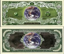 United States Usa Dollar Bill Mother Earth One Million