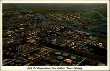 Port Arthur Texas Amerika  Color AK ~1950/60 Gulf Oil Corporations Refinery