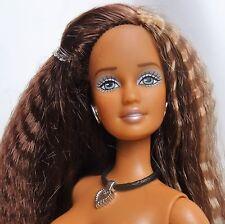 2003 Cali Girl Teresa Barbie Doll Crimp brunette hair Grey eyes Nude AO42