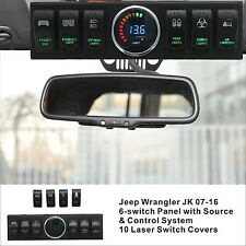 Apollointech Jeep Wrangler JK & JKU 07-16 Windshield Top 6-Switch Pod / Panel...