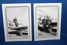 Two Original WW2 U.S. Army Air Force Fighter Pilot's Photographs, Very Cool