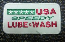 USA SPEEDY LUBE & WASH Iron or Sew-On Patch