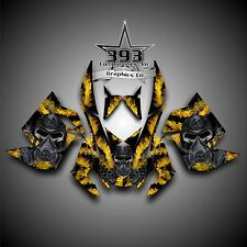 SKI-DOO REV XP SNOWMOBILE SLED GRAPHICS DECAL WRAP STICKER KIT TOXIC YELLOW
