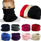 Snood Scarf Winter Hat Fleece Neck Warmer Balaclava Men Women Black Ski Mask