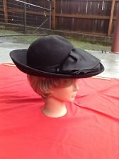 Vintage Women's Wool - Bollman Hat Co. Black Doeskin Felt Hat