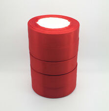 "New 5 Yards 1"" 25mm Red Bulk Satin Ribbon DIY Craft sewing Supplies crafts #A1"