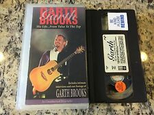 GARTH BROOKS HIS LIFE...FROM TULSA TO THE TOP RARE VHS! NOT ON DVD DOCUMENTARY
