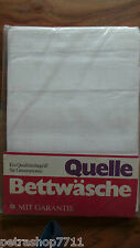 Retro, 2x Bettwäsche Set in Weiß, Quelle, Gr. 130x200cm 80x80, OVP, 70er Jahre