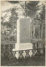 c1900 Photograph Penny Cook Plantation Monument, Sugar Ball Bluff, Concord, NH