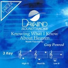 Knowing What I Know About Heaven Accompaniment CD By Guy Penrod