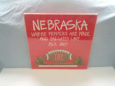 Nebraska huskers football  tailgate red wooden wall hanging decor Glory Haus