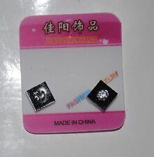 1 COPPIA Non Piercing Clip on Magnetico Magnete Ear Stud uomini donne finto Square