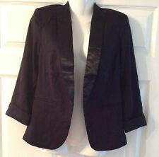 Women's tuxedo jacket blazer black size 10 smart going out dinner lined