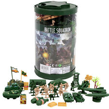 82 pcs- Army Men Toy Soldiers Military Tank Trees Plastic Figurine Action Figure