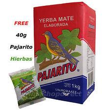 1 kg YERBA MATE PAJARITO ELABORADA plus 40g FREE PAJARITO HIERBAS PACK