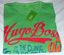 NEWw/TAGS Authentic HUGO BOSS Mens Muscle LG. T-SHIRT LT.GREEN  w/MULTI LETTERS