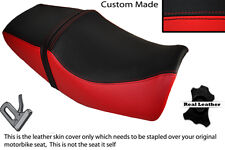 BLACK & RED CUSTOM FITS YAMAHA XJR 400 DUAL LEATHER SEAT COVER ONLY