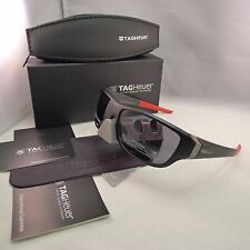 TAG HEUER RACER 2 TH 9225 101 MATTE BLACK RED GREY OUTDOOR SUNGLASSES 63MM NEW