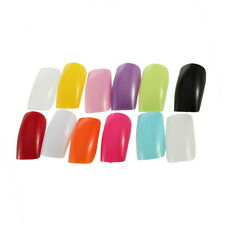 500 NATURAL Full Well FALSE Fake NAIL Tips Acrylic UV Gel EH