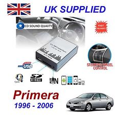 Nissan Primera Mp3 Sd Usb Cd Aux entrada Adaptador De Audio Digital cambiador de CD módulo
