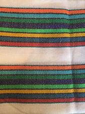 1 Yard Rainbow Mexican Fabric Machine Woven/Knit Fabric Ethnic Folk Textiles