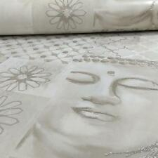 ARTHOUSE ENLIGHTEN FLORAL PATTERN BUDDHA MOTIF GLITTER WALLPAPER ROLL