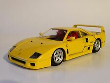 Bburago 1987 Ferrari F40 Yellow Burago 1:18 Scale Die Cast Italy Model Car 3032