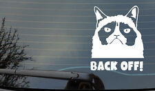 Autocollant grincheux cat back off fenêtre carrosserie pare-chocs 4x4 Voiture Van Laptop JDM