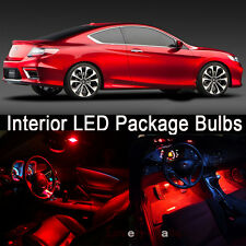 6Pcs Red Map/Dome Lights Interior LED Package Kit For Toyota Corolla 2003-2013